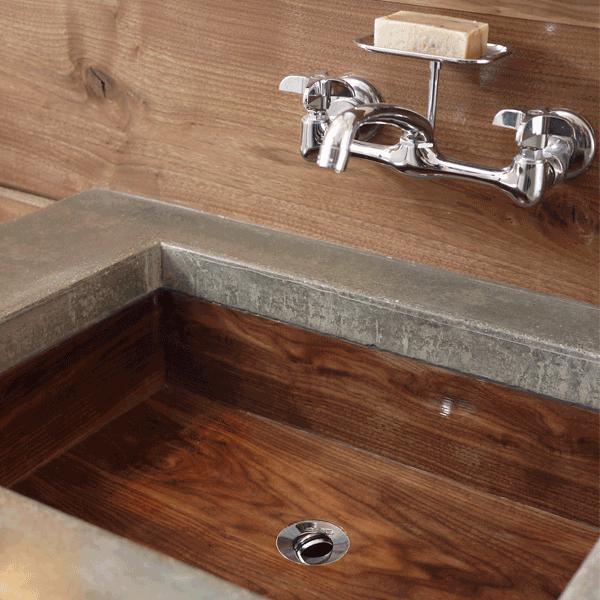 Wooden Sink Why Not 100kgarages Bathroom Countertop Design