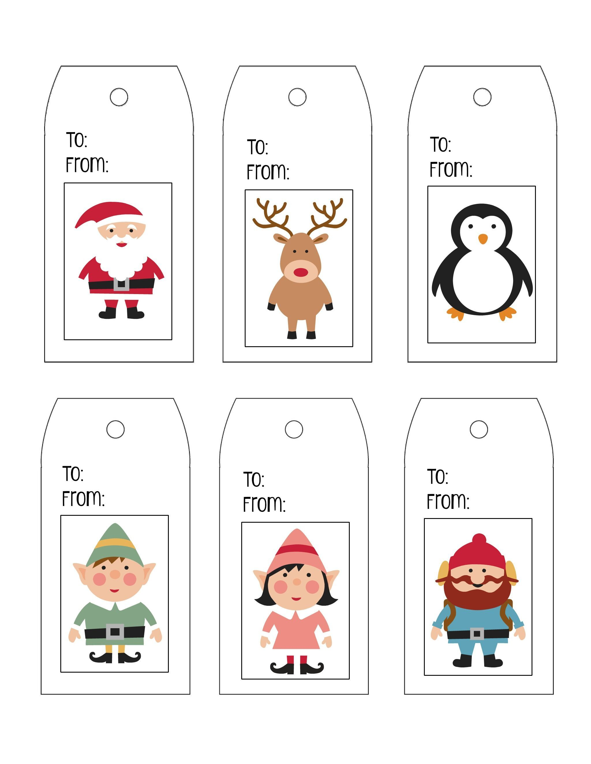 Printable Character Christmas Tags Jpg Christmas Tags Printable Gift Tag Template Christmas Gift Tags Template