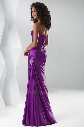Caída Até o chão Glamour & Dramática Corpete plissado Vestido de noite - Página 3