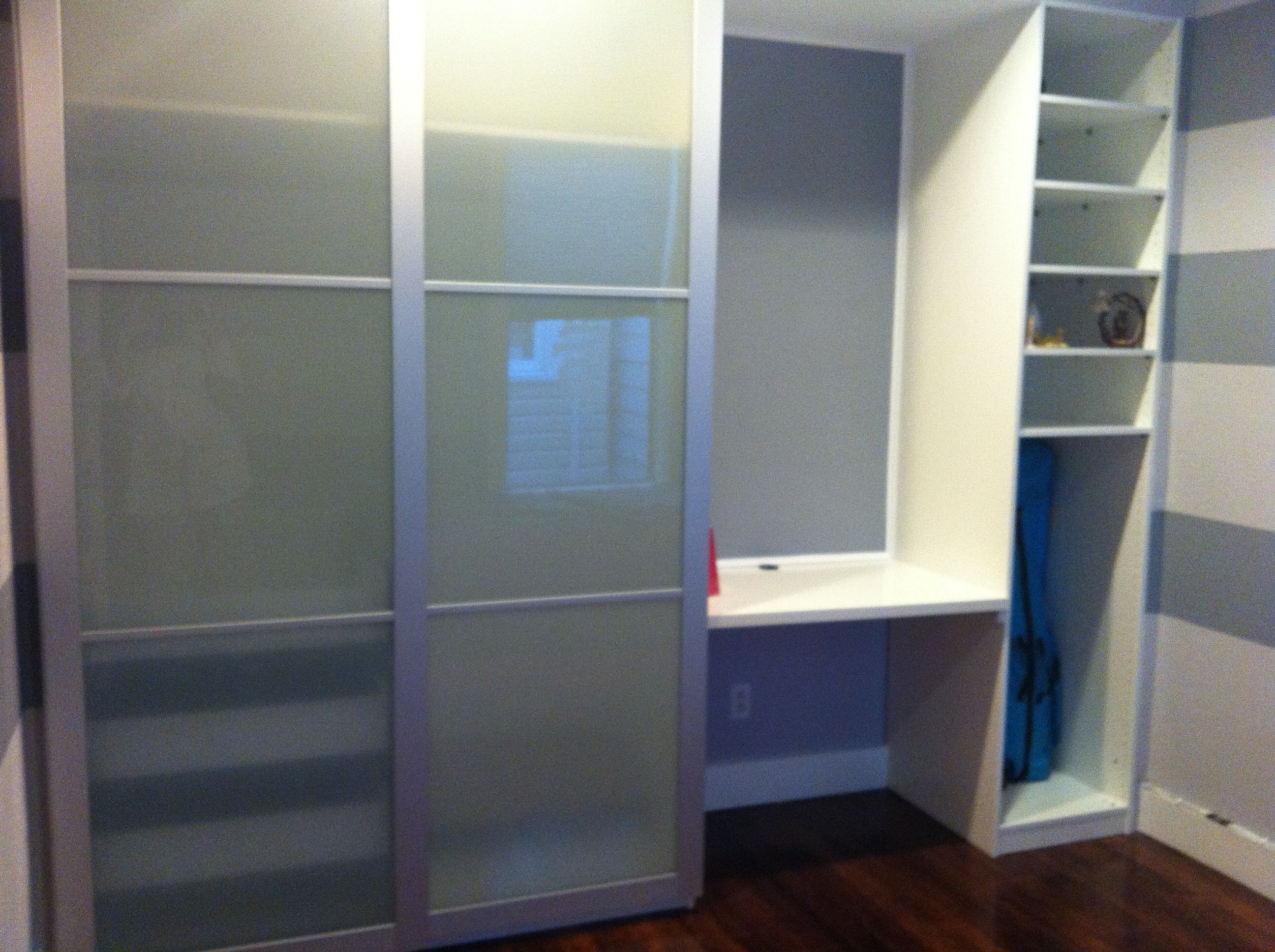After 1 Ikea Pax With Custom Built In And Desk Ikea Pax Custom
