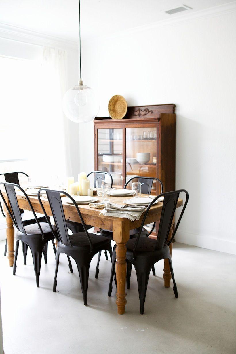 Long kitchen tables  Nikisha u Carl Brunson  Woods Dining and Black
