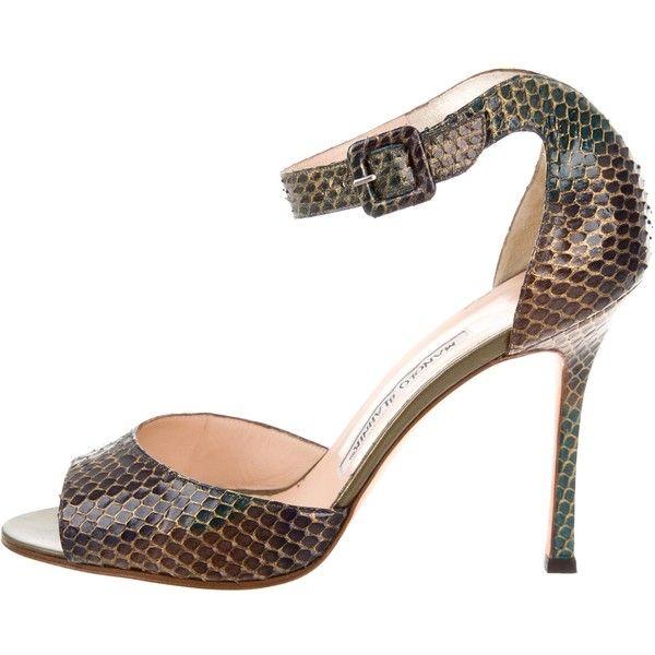 Pre-owned - Python sandal Manolo Blahnik Zsvl8p39B
