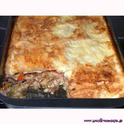 Hackfleisch-Gemüse-Auflauf mit Yufka-Teigblättern Rezept - türkische küche rezepte