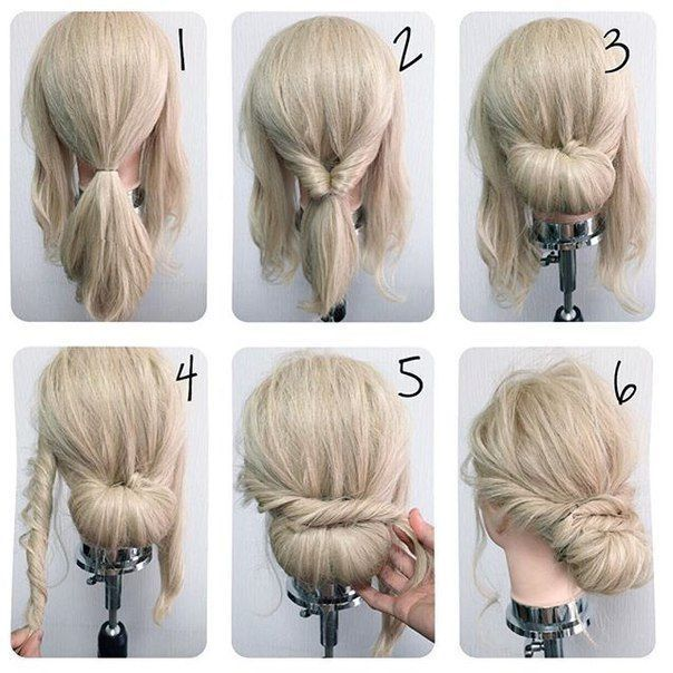 Quick Hairstyle Ideas Hair Styles Medium Hair Styles Simple Wedding Hairstyles