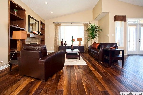 Floor Looks Good With Our Color Furniture Too The Light Shades In Wood Keep Overall Feel From Being Dark