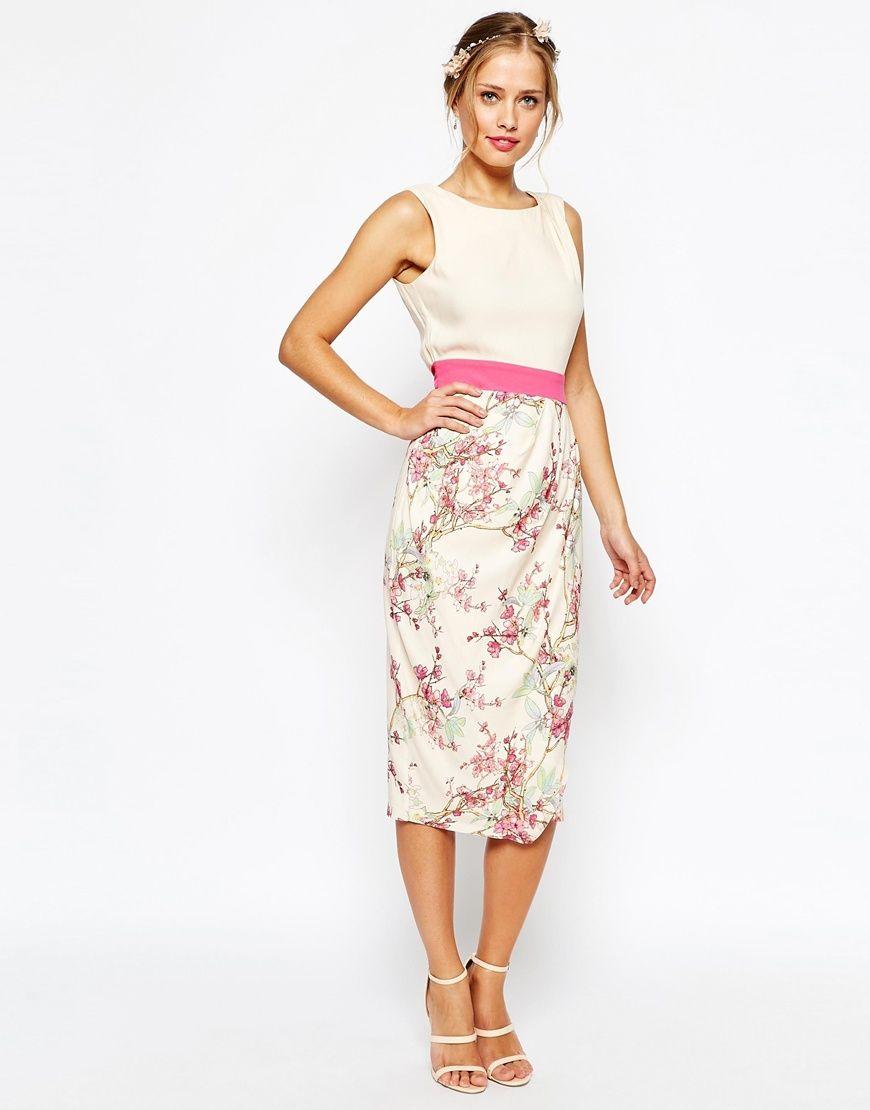 Closet Multi Floral Drape Skirt Dress - Multi Closet Outlet Buy Quality For Sale Free Shipping bkUj4Tz7sb