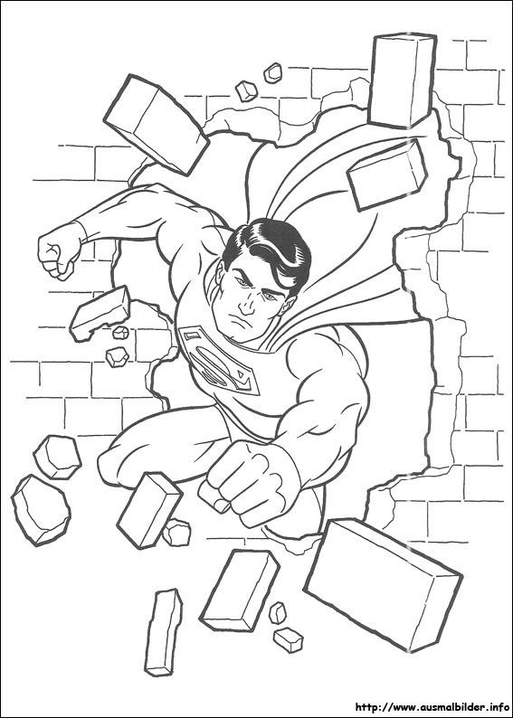 Ausmalbilder Superman zum Ausdrucken Superhelden