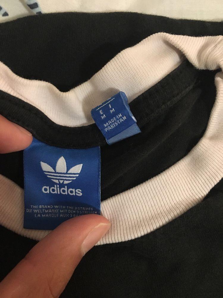 adidas 3 stripes t shirt bianca green
