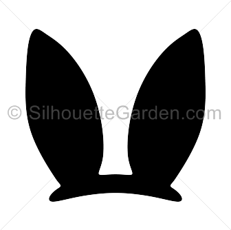 Easter bunny ears silhouette clip art. Download free versions of ...