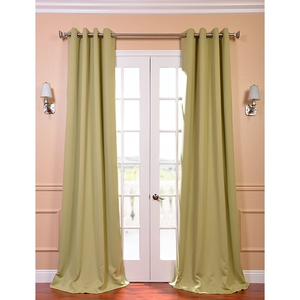 Grommet blackout thermal lichen curtain panels set of