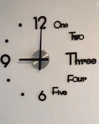 Decorative 3D Clock