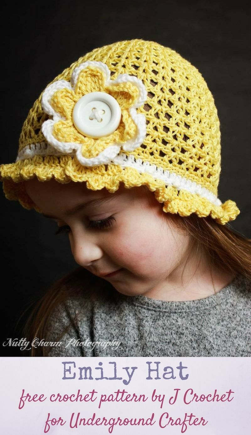 Crochet Pattern: Emily Hat by J Crochet | baby hat 4 | Pinterest ...