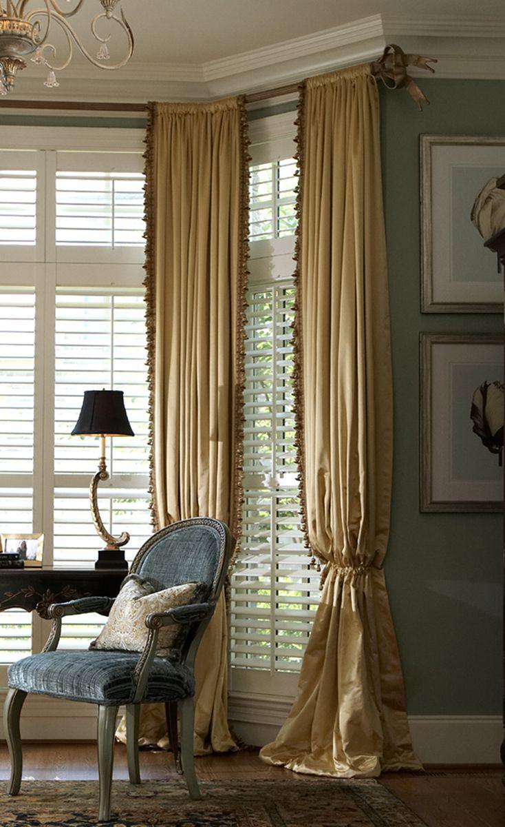 Beautiful Drapes Plantation Shutters Curtains Custom Windows Custom Window Treatments Window Treatments