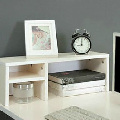 Modern white 2 layers 3 girds wooden desktop shelf desktop shelf desktop shelf easy diy altavistaventures Image collections