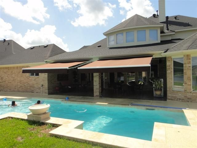 Retractable Awnings over Pool | Retractable awning, Awning ...