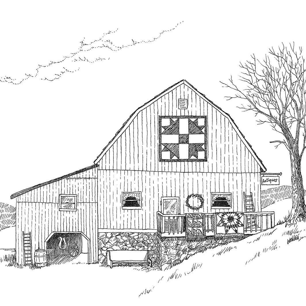 2011 Appalachian Memories Barn Drawings Barn painting