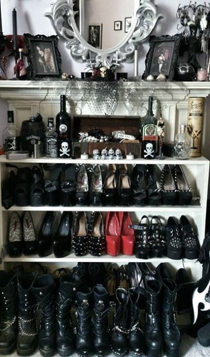 I wanna have something like this one day, a closet full of heels and boots :)