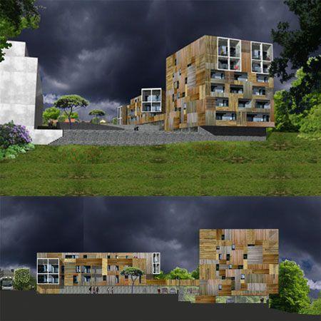 Garo Boixel Architectes    #architecture #logementsociaux #logement #bardagebois #loggia #logementcollectif