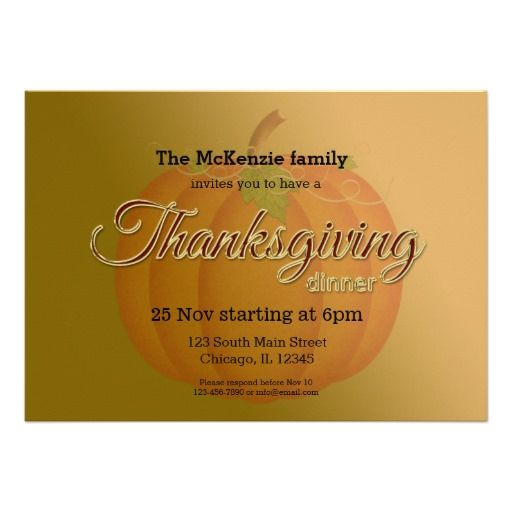 Thankgiving dinner invites