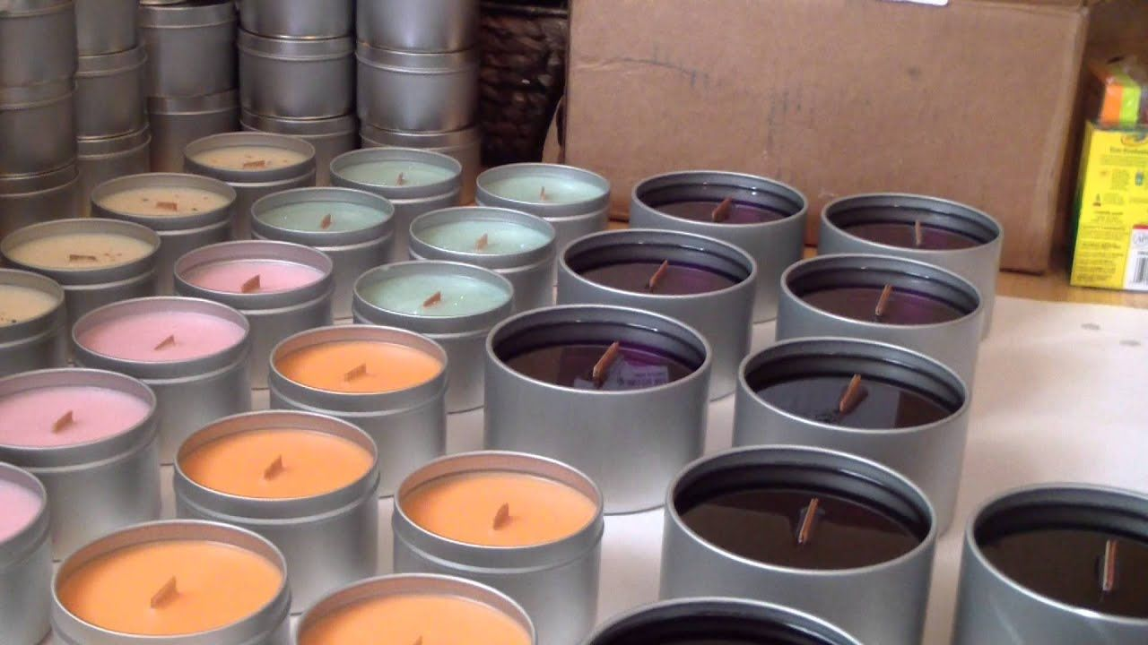 Making candles! Wooden Wick Soy Candles. YouTube