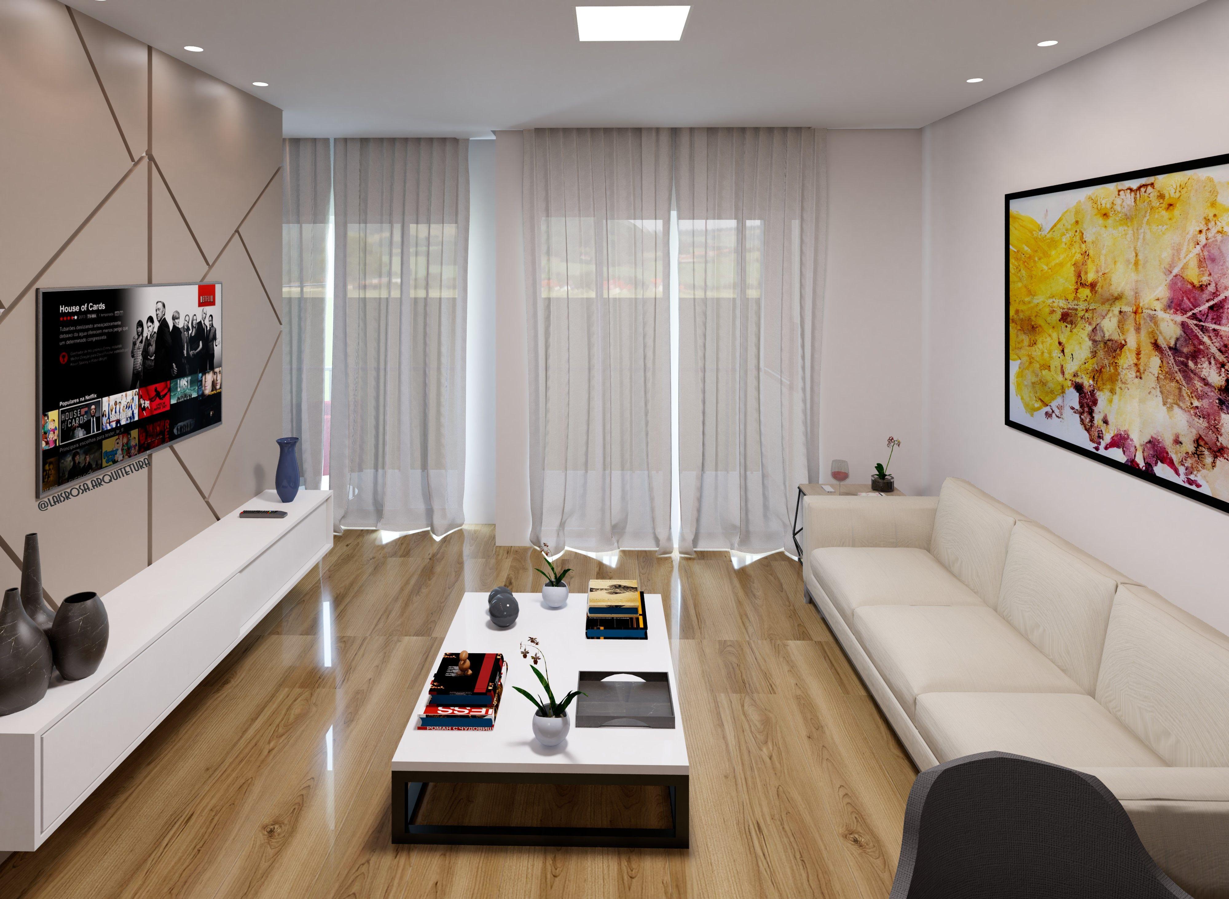 Sala de Estar | Interiores, Cores claras, Decoração