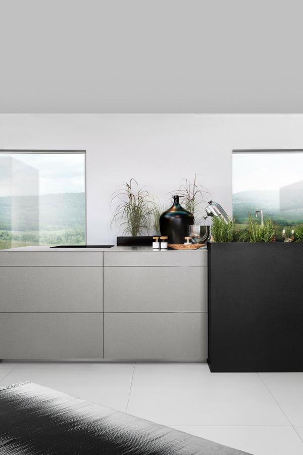 Grifflose Küchen: Varianten, Bilder, Vorteile und Nachteile ...