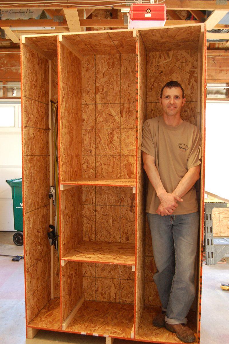 Arts and Crafts style shelves Garage storage