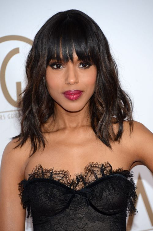 40 best hairstyles for thick hair medium wavy hairstyles thicker kerry washington layered medium wavy hairstyle with bangs for thick hair winobraniefo Images