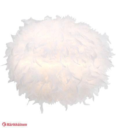 58,90 EUR | Varjostimen halkaisija: 40 cm<BR>Materiaali: ankanhöyheniä<BR>Väri: valkoinen<BR>Valaisinkaluste: ei sisälly