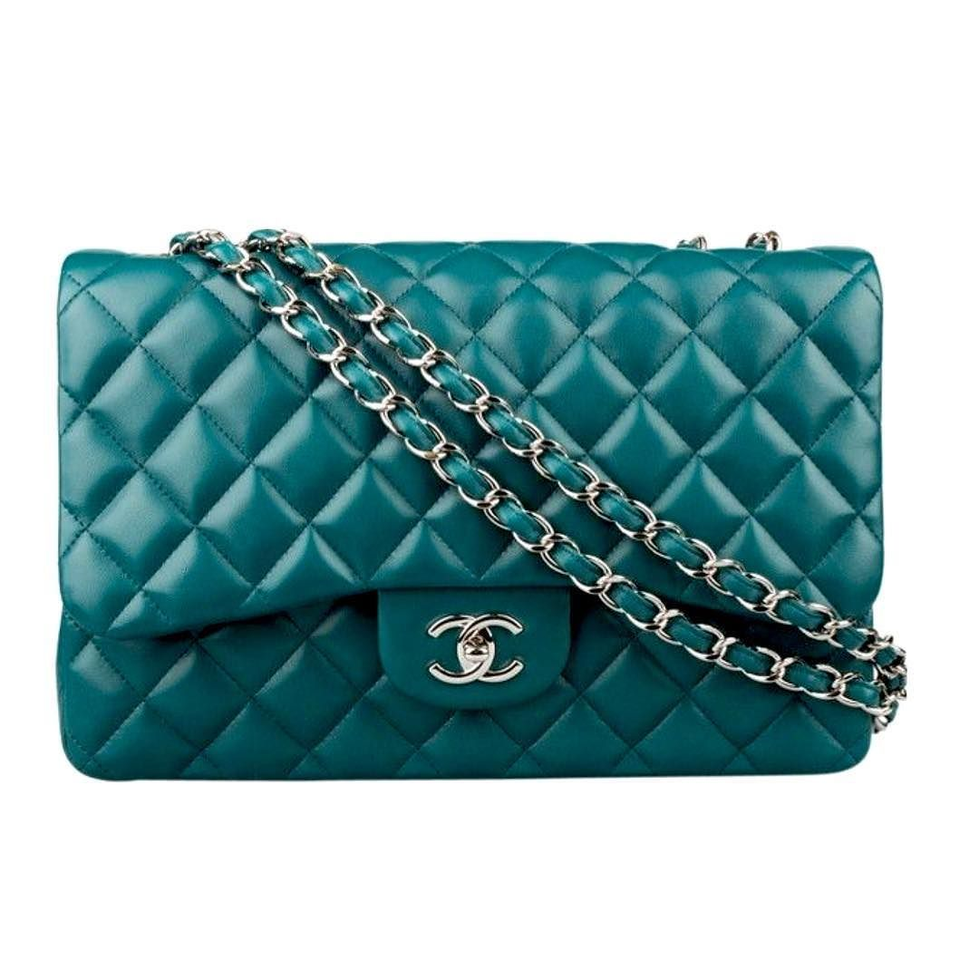cdecc7c3b371 Chanel jumbo turquoise Lambskin double flap bag like new condition comes  with dustbag and authentic card silver hardware asking $3400 comment for  more ...