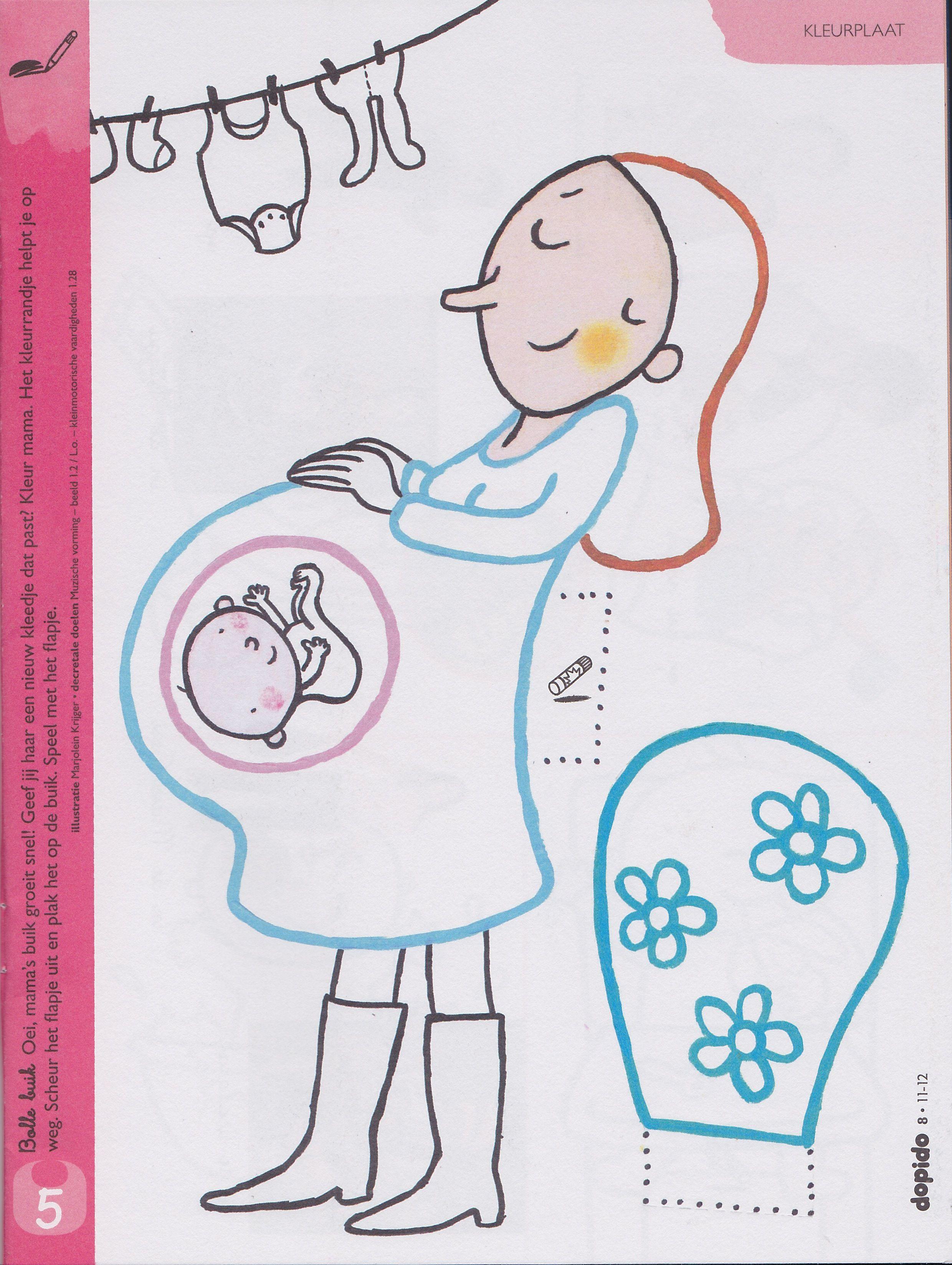Pin Van Heidi Vanhouche Op Pracovni Listy Knutselen Thema Baby Zwanger Baby Geboorte