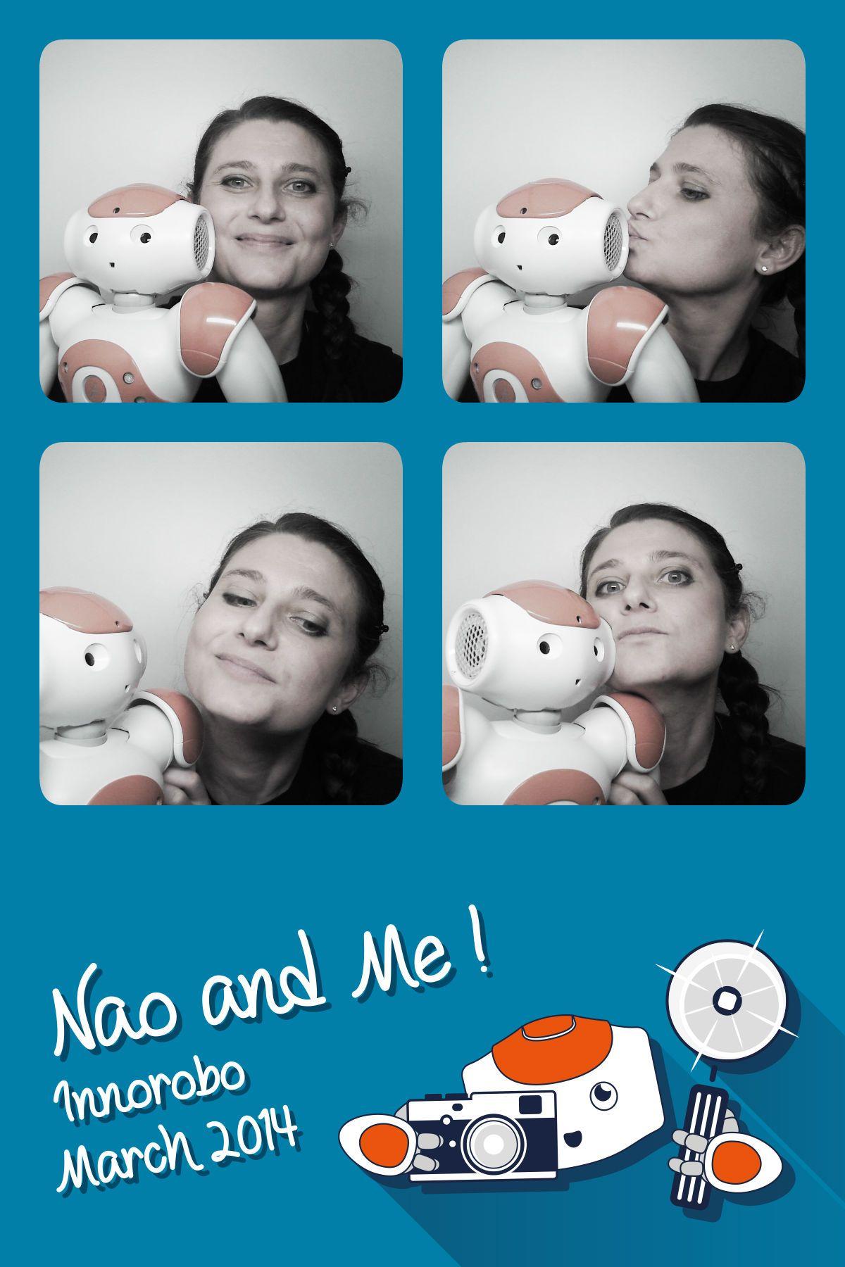 Ma première photo avec NAO le robot à Innorobo ! #NAOrobot #AldebaranRobotics