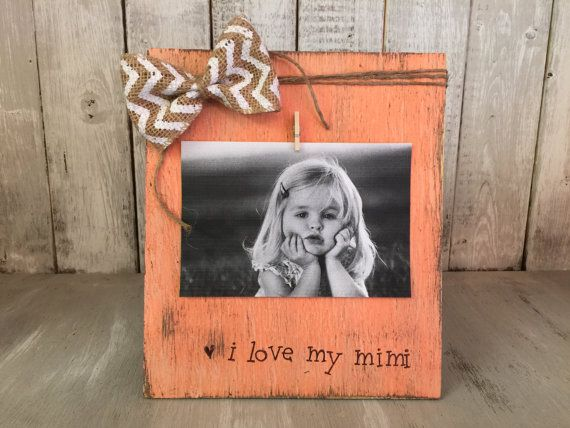 Grandmother Gift I Love Mimi Picture Frame Gigi By Bowtiqueburlap