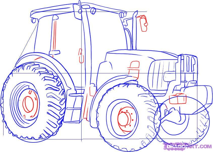 how to draw a john deere tractor step 4 | drawings | Pinterest