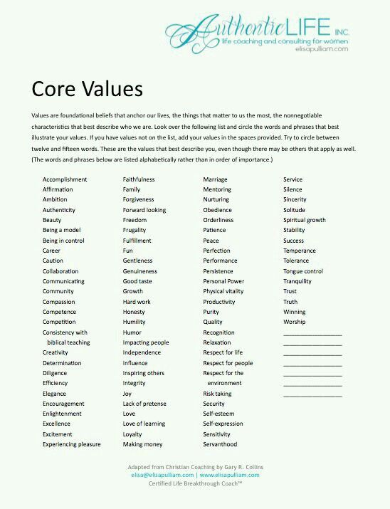 Pin By Jillian Hanson On Faith Hope Love Life Coaching Worksheets Core Beliefs Core Values