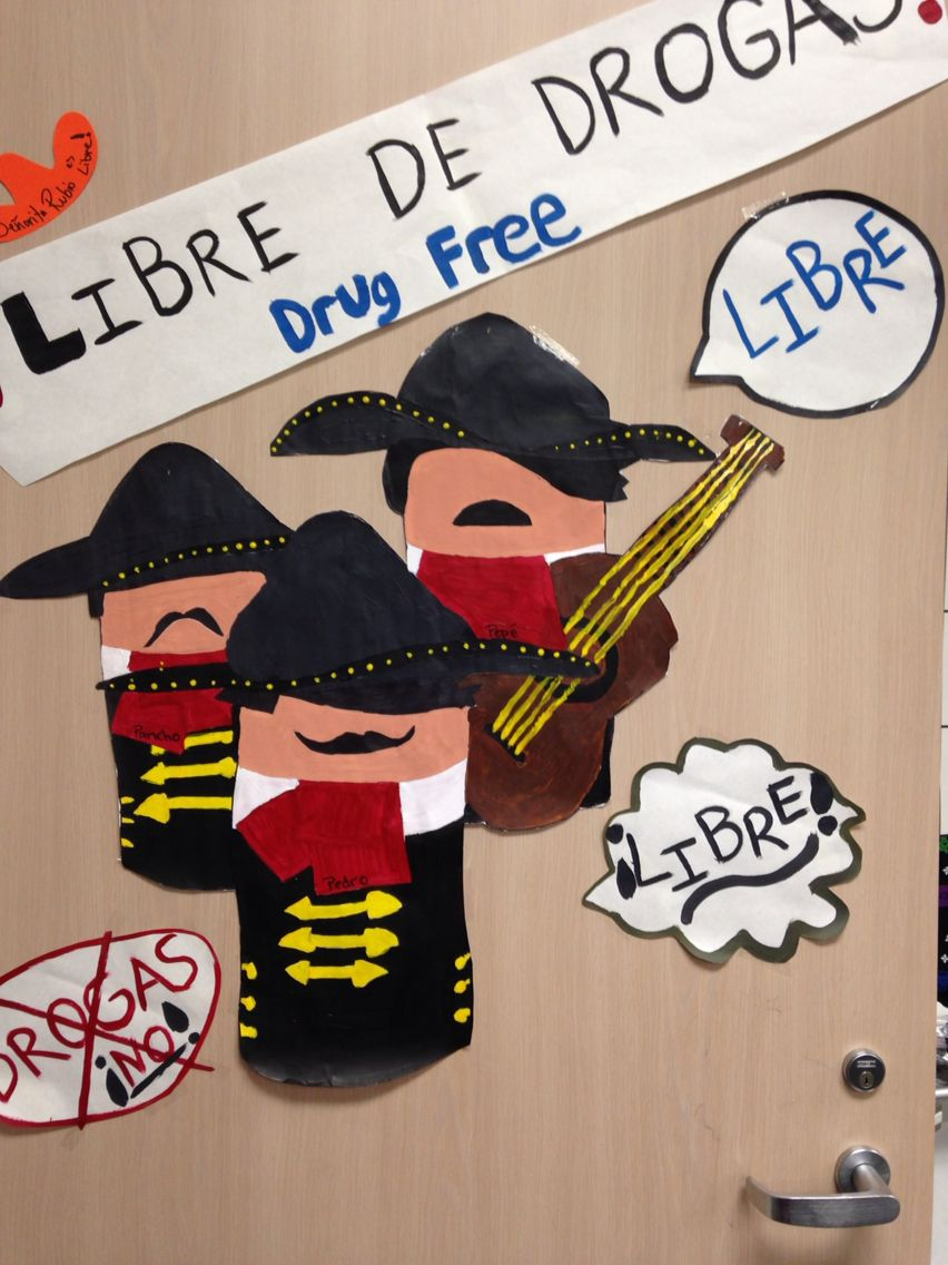 Red Ribbon Week Spanish Class Meet The Drug Free Amigos Pancho Pedro And Pepe And Be Libre De Drogas Drug Free Red Ribbon Week Red Ribbon Drug Free [ 1136 x 852 Pixel ]