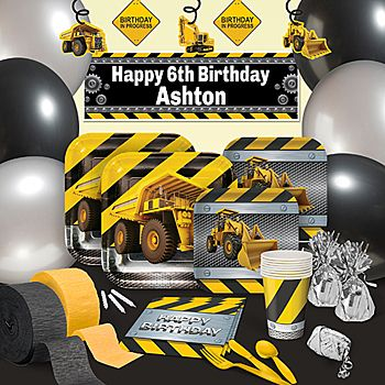 Construction Zone Ultimate Party Pack