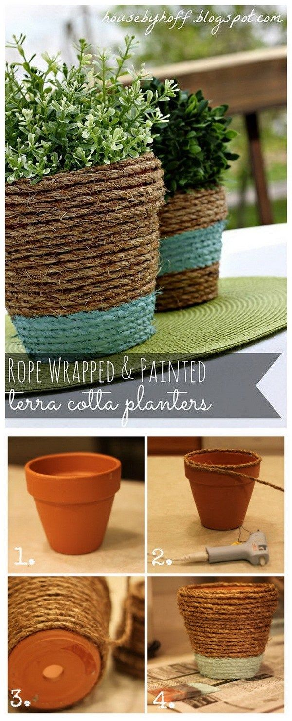 17 Creative Ideas to Decorate with Terra Cotta Flower Pots #flowerpot