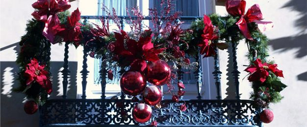 Balcon Guirnalda Jpg 626 260 Christmas Decorations Christmas Wreaths Christmas