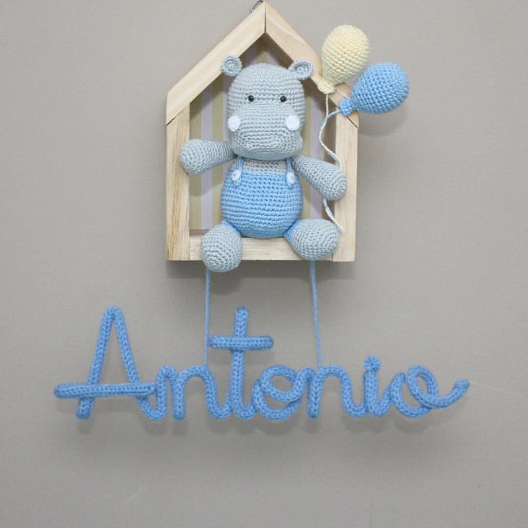 Enfeite Porta de Maternidade - Amigurumi no Elo7 | Lolo Bunny (D42806) | 1080x1080