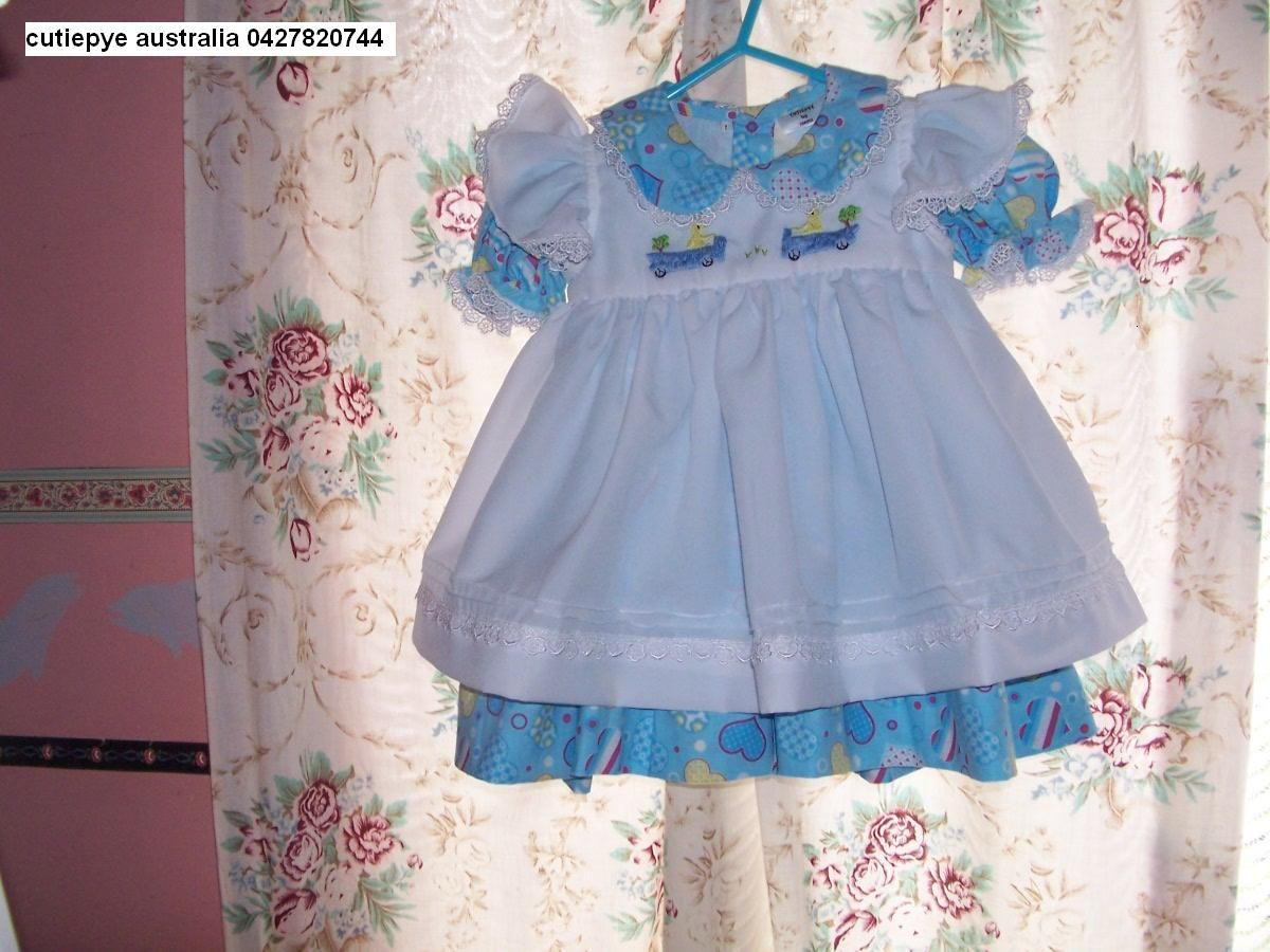 smocked by cutiepye australia 0427820744 pls ring your orders dont email, no min order is required...pinafore and dress