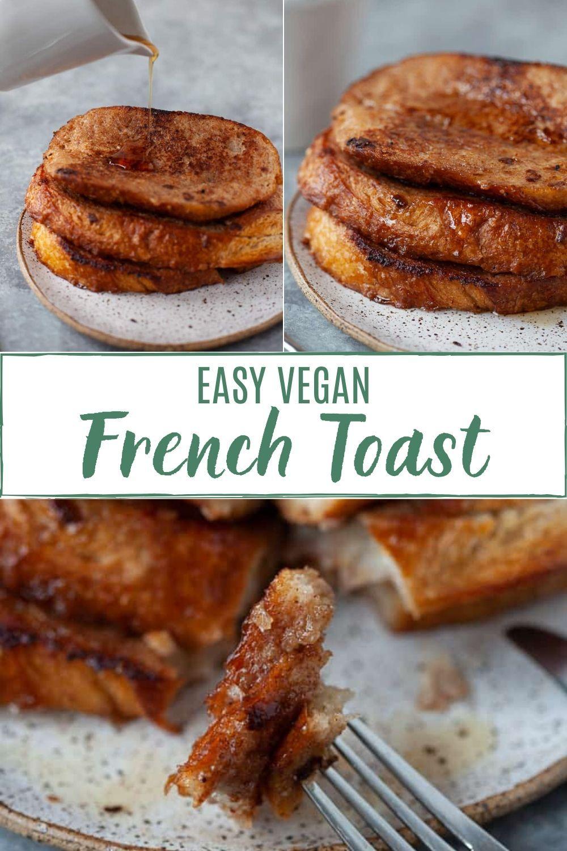 Easy vegan french toast recipe in 2020 easy vegan