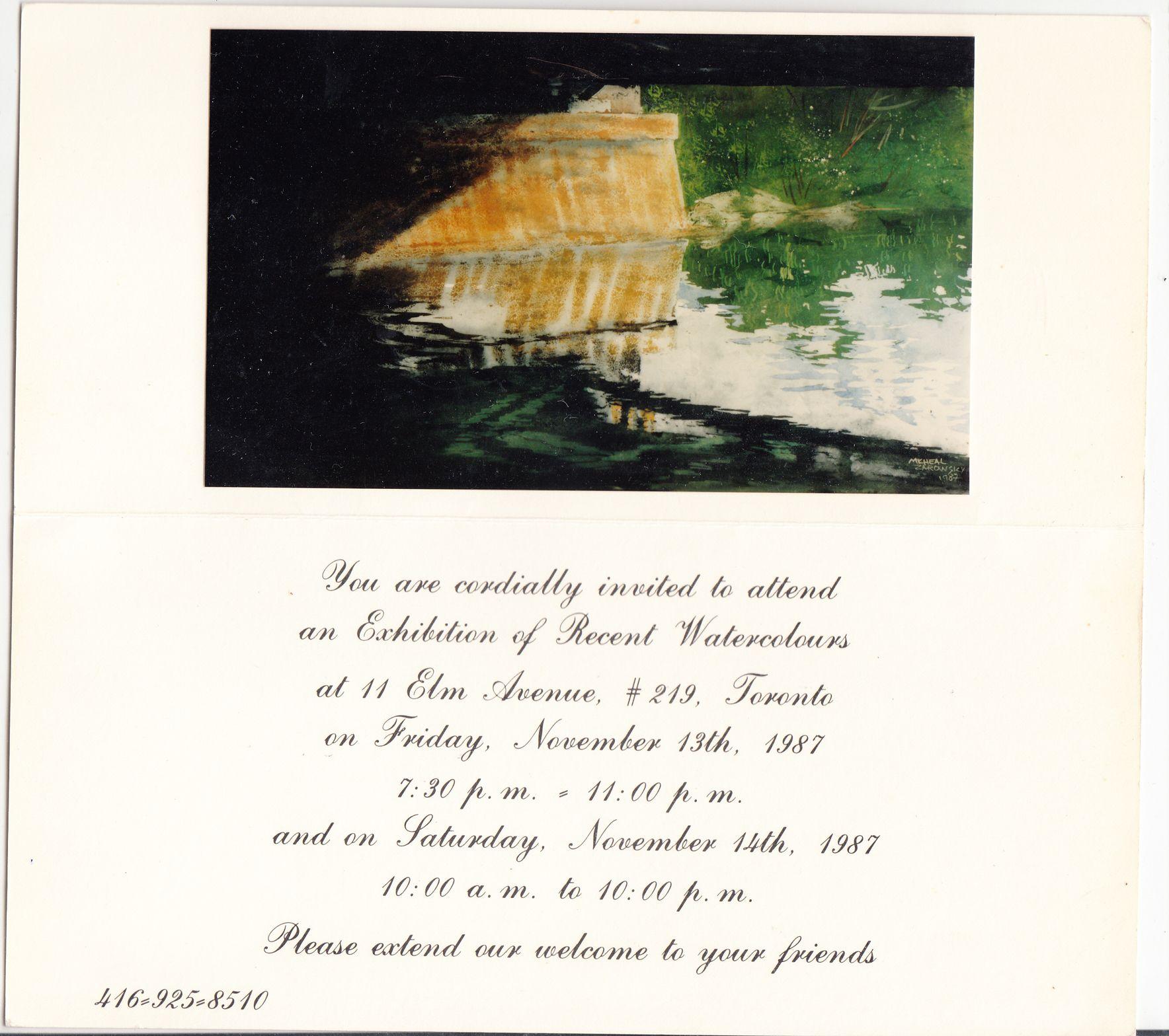 zarowsky watercolours light n bridges 1987 at elm avenue studio toronto