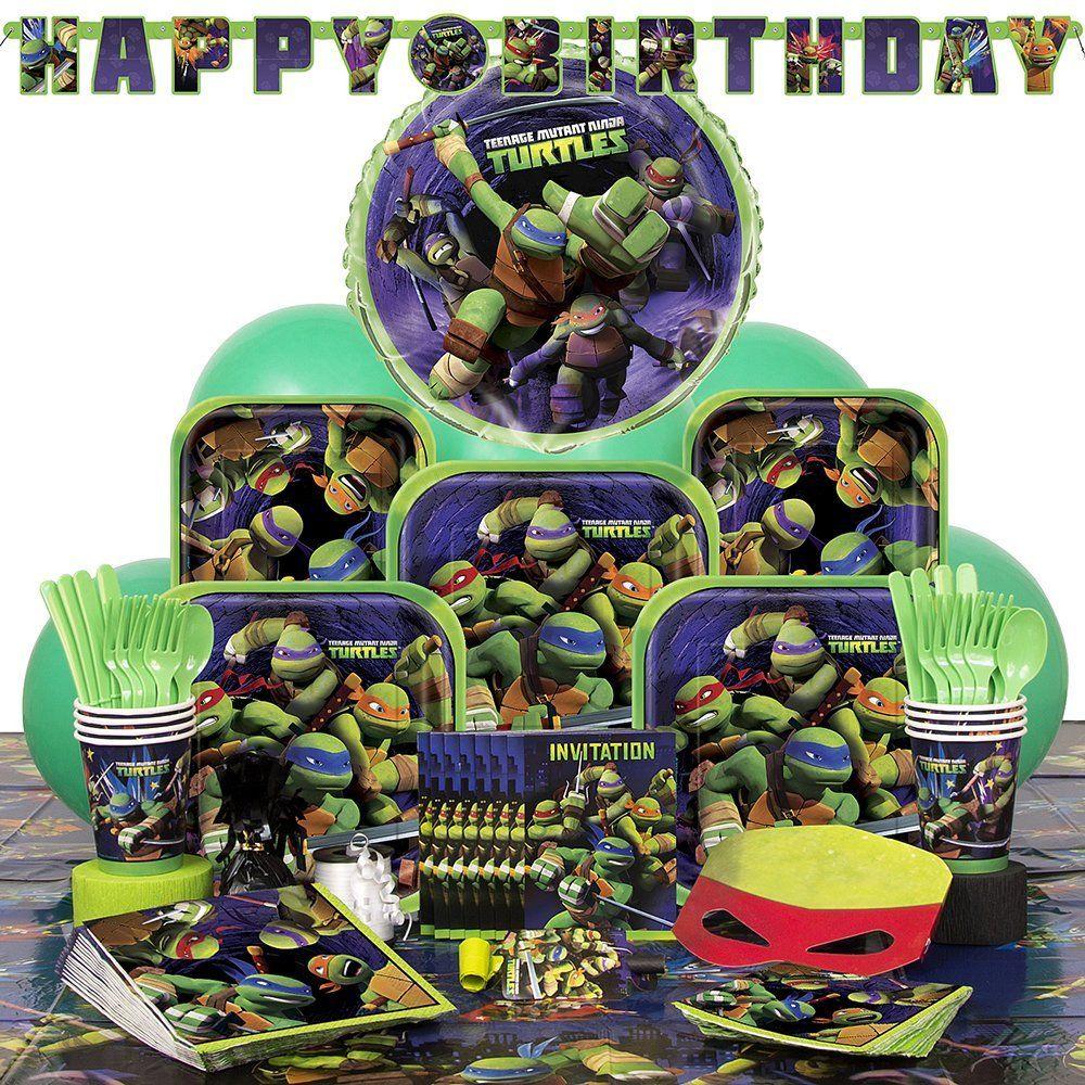 Deluxe teenage mutant ninja turtles party supplies kit for