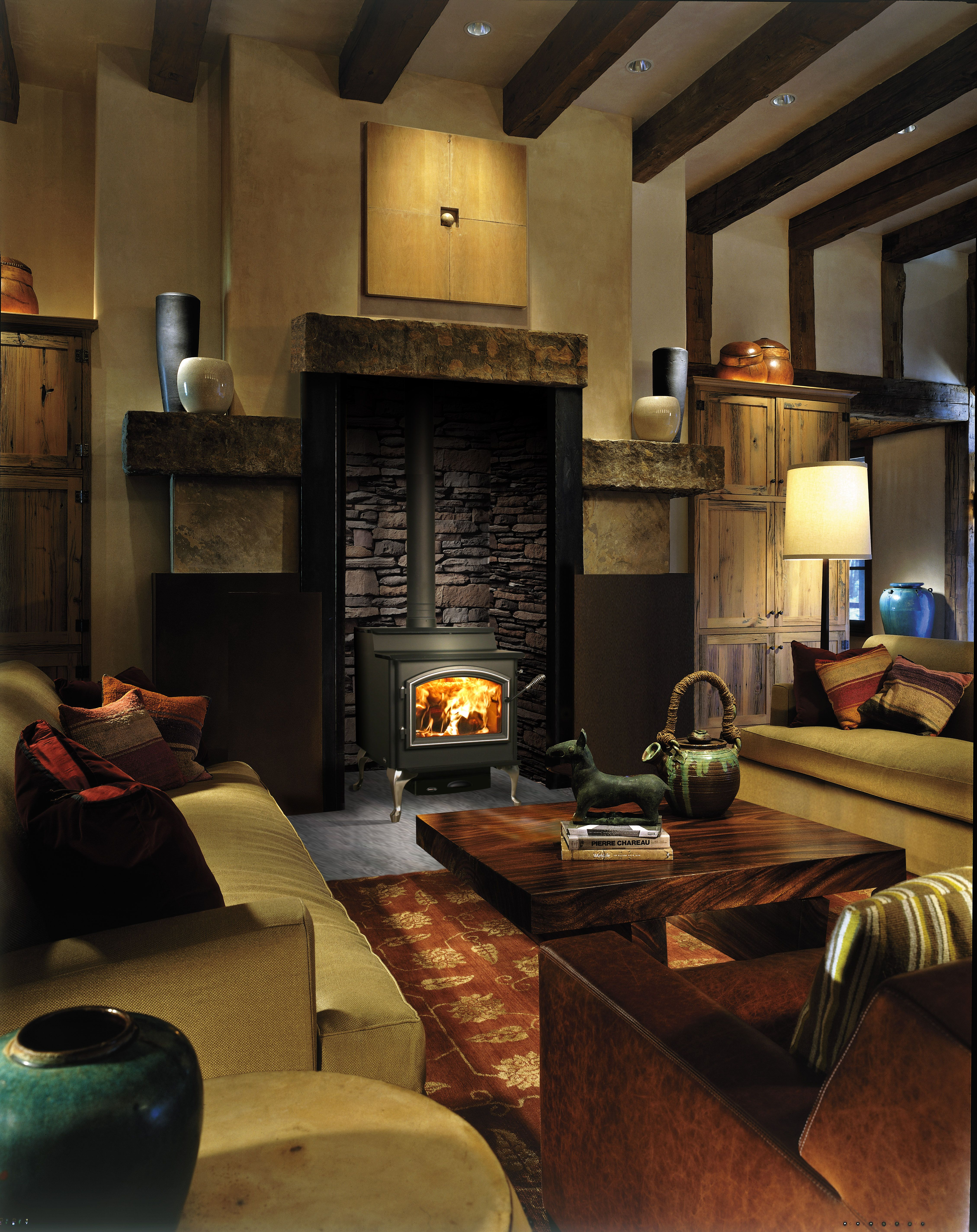 Wood stove surround ideas - Love The Brick Surrounding The Wood Burning Stove Description From Pinterest Com I