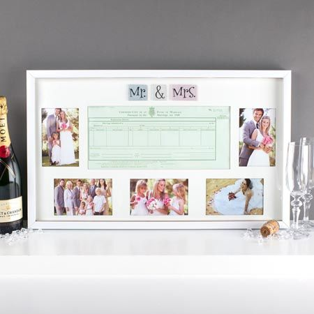 Mr Mrs Wedding Certificate Collage Frame