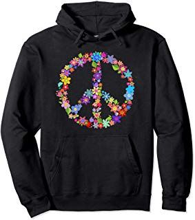 Peace Symbol Flower Power Colorful Design shirt. Great design for festivals and music events. Makes a great gift for the peace flower loving person in your life! #peace #flowerpower #graphictee