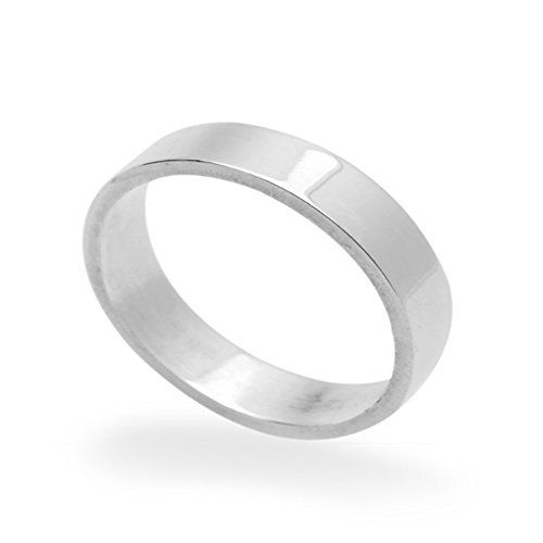 63d0c7d37e66e 5MM Sterling Silver Wedding Band Classic Plain Flat Band Ring 5 to ...