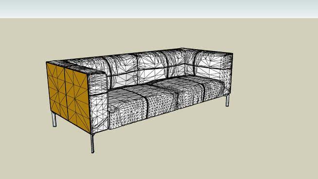 Poltrona Frau Bosforo.Poltrona Frau Bosforo 2 Seater Sofa Large Sketchup Sofa