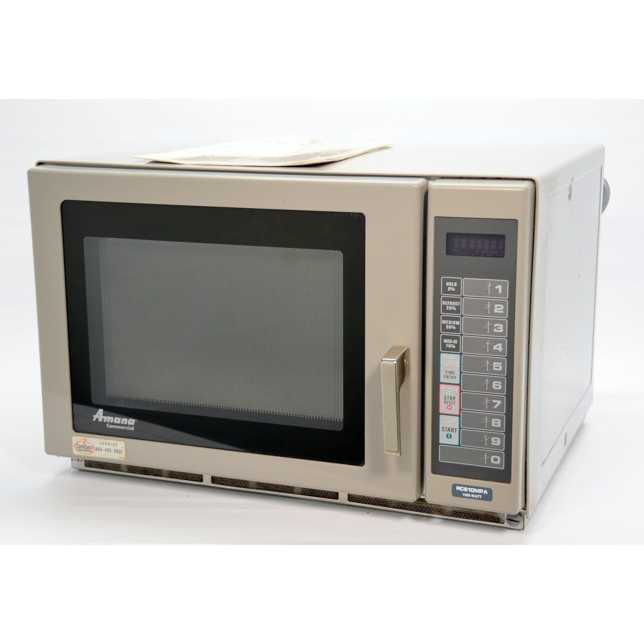 Amana Rcs10mpa 1000w Commercial Countertop Microwave Oven Medium Volume 120v